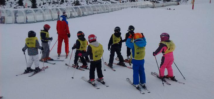 Première sortie à Courchevel pour le ski enfants