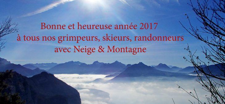 Une belle année 2017 de skis, d'escalade et de randos