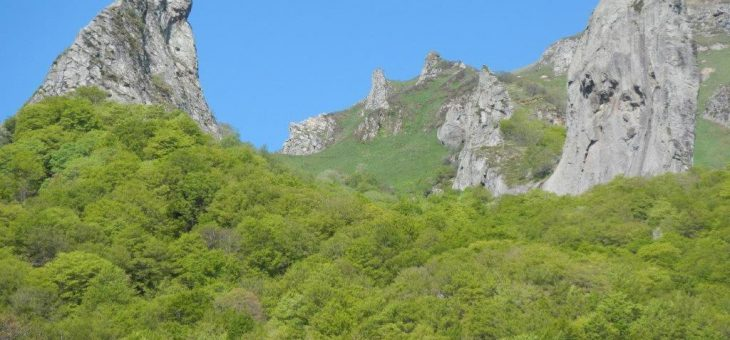 Escalade sur les volcans d'Auvergne