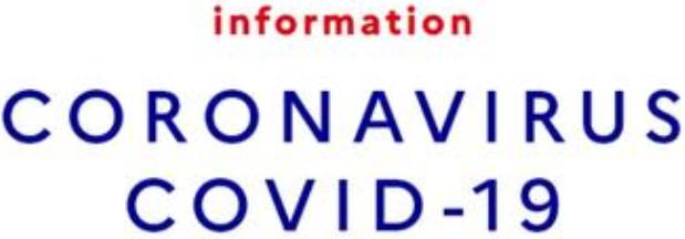 Informations COVID-19 – Toutes les activités sont suspendues